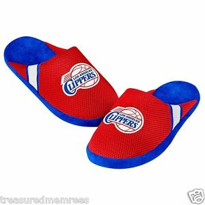 Los Angeles Clippers Team Jersey Indoor/Outdoor Slippers ~ Size XL (13-14) ~NWT