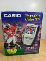 """In Box Casio EV-660 3"""" LCD Color Television in Excellent Working Condition"""