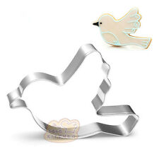 2 Pcs Packed Peace Dove Stainless Steel Cookie Dessert Fruit Cutters DIY Mold