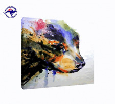 'Graffiti Dog' Oil Painting - CLEARANCE SALE - $ 1 Auction Bargain