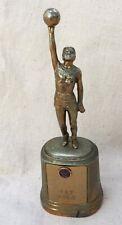 Antique Vintage 1950 Metal Basketball Player Figural Trophy American legion