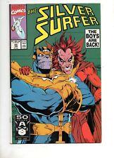 Silver Surfer #45 Origin Infinity Gems! Thanos & Mephisto Cover Lim 1991 Nm+ 9.6