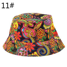 100% Cotton Adults Bucket Hat - Summer Fishing Boonie Beach Festival Sun CapRDUJ