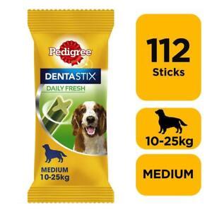 112 Pedigree Daily Dentastix Fresh Dental Sticks Dog Treats Medium Dog Chews