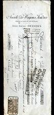"""BEZIERS (34) TRANSPORT / LOCATION de WAGONS """"Sté des WAGONS FOUDRES"""" en 1907"""