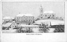bg18801 Kostel a Skola v Pocaplich pocaply Czech