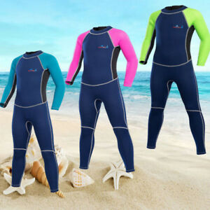 2mm Neoprene  Boys Girls UV Protection Warm One Piece Surfing Diving Wetsuits