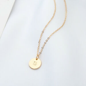 Gold Girl Alphabet Letter Initial Friendship Bridesmaid Gift Chain Necklace UK