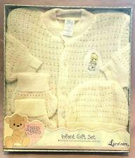Rare 2001 Precious Moments - Infant Gift Set - Sweater - Booties - Cap - Nib