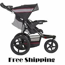 Baby Jogger Stroller All Terrain Running Jogging 3 Wheel Lightweight Black Gray