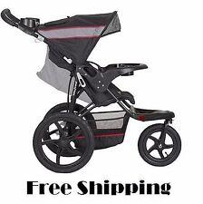 Baby Jogger Stroller All Terrain Running Jogging 3 Wheel Lightweight Black Gray