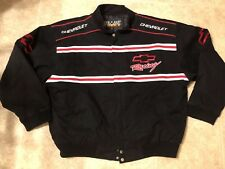 ESSEX Racing Champions Chevrolet Racing Jacket Chevy Coat Nascar Size XL Black
