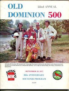 Martinsville Speedway NASCAR Auto Race Program 9/25/1977-Waltrip-Petty-FN+