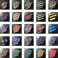 122KT men 100/% silk neck tie black purple stripes waterproof wedding party ties