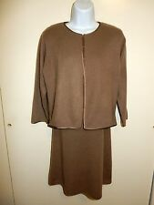 BANANA REPUBLIC 100%CASHMERE BEIGE DRESS XS SUIT SILK LINING CARDIGAN SCOTLAND M