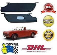 Fiat 124 Spider Classic Sun Visors Black Leatherette DHL Express Shipping