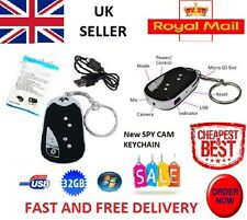 8GB MICRO SD + Spy Cam Key Ring Camera Mini DVR Car Hidden Fob Covert UpTo 32GB