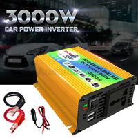 3000W Convertitore di Potenza Invertitore 12V DC a 220V AC Per Auto Barca USB