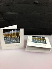 20 x tarjetas de invitación de boda con noche gafas de champán y sobres