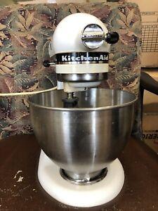 KitchenAid KSM75WH Classic Plus Series 4.5-Quart Tilt-He Stand Mixer, White