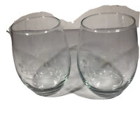 BOEING SOUTH CAROLINA EMBOSSED WINE GOBLETS Set of 2 Charleston, SC VGUC