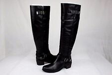 UGG BESS TALL BLACK LEATHER RIDING HEEL BOOTS SIZE 9 US NEW NO BOX