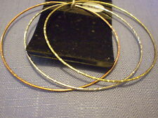 set 3 metal bangles - gold, silver, copper BT784