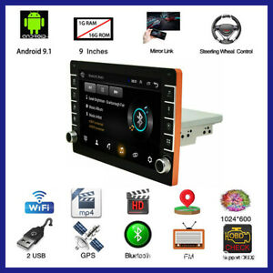 Android 9.1 Touch Screen Stereo Radio MP5 Player Kit GPS/Wifi/FM/USB Fit For Car