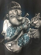 Popeye Tattoo Artist Shirt XL Sailor Man Bluto Wimpy Olive Oyl Swee' Pea