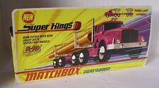 Repro Box Matchbox SuperKings K-10 Pipe Truck
