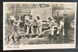 1940 Feldpost Germany RPPC Postcard Cover To Vienna Sailors Cleaning
