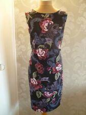 SOON black floral print dress size 18