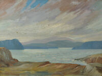1934 Canadian Impressionist Oil Painting West Coast Unsigned