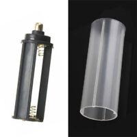 1PCS 18650 Battery Tube + 1PCS AAA Battery Holder for Flashlight Lamp Torch Set