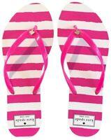 NEW Kate Spade Nassau Bow Pink White Stripe Flip Flop Thong Sandals Size 7 Women