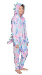 Justice Girls Size 10 One Piece Pajamas Romper Sleeveless PJ/'s Pink Blue Pastel