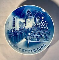 "B&G-Bing & Grondahl-1968 Christmas Plate-""Christmas in Church""-Denmark"