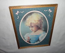 Home Interiors '' Girl in Blue '' Picture Gorgeous 16'' x 20.5''