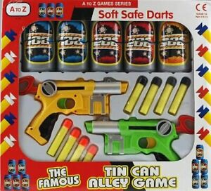 A TO Z SOFT SAFE DARTS TIN CAN ALLEY SHOOTING GAME