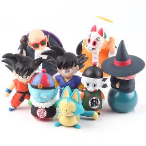 4 Pcs/Set Dragon Ball Z Son Goku Gohan Master Roshi PVC Figure Model Toy Hot