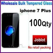 100X Wholesale Job Lot bulk Tempered Glass Screen Protector for iphone 7 Plus