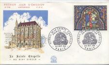 FRANCE FDC - 1492 1 VITRAIL DE LA SAINTE CHAPELLE - GF 22 Octobre 1966 - LUXE