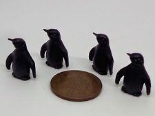 1:12 Scale Penguin  x 4 Dolls House Miniature Nursery ,toys
