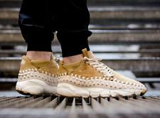 NIKE AIR FOOTSCAPE WOVEN CHUKKA QS TRAINERS UK 10 EU 45 MENS 913929-700 GOLD