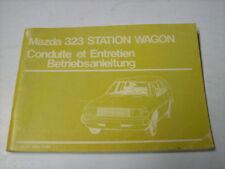 Betriebsanleitung Mazda 323 Station Wagon Stand 1980
