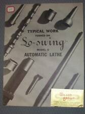 "Vtg Seneca Falls Machine Co Catalog~Lo-Swing ""U"" Lathes"