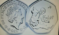 2020 UK Piglet CERTIFIED BU 50p The third coin in the Winnie the Poo set in now