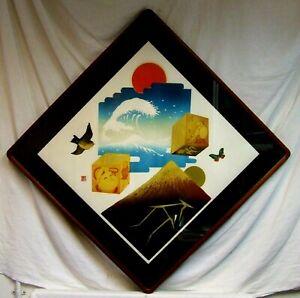 Makoto Ouchi (1926-1989) Japanese Woodblock Keshiki 1979 Kato frame wall art