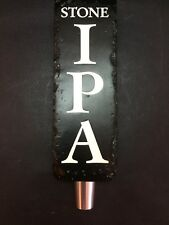 Stone Brewing IPA Beer BarTap Handle MINT! Keg Engraved Mancave Display 8""