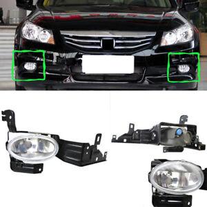 2x for Honda Accord 2011-2012 Front Left Right Fog Light Lamp Cover Trim Nobulb